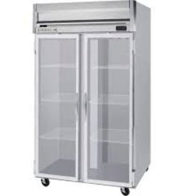 Beverage Air Reach-In Refrigerator, 2 Section, Glass Door, 49 cu.ft.