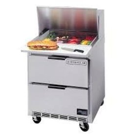 "Beverage Air Sandwich Unit, 1 Sect., 8 Pan, 2 Drawer, 27W"",7.3 cu.ft."