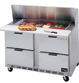 "Beverage Air Sandwich Unit, 2 Sect., 48"", 4 Drawer, (8) 1/6 Pans"