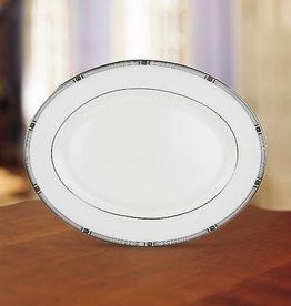 "Lenox Oval Platter, LENOX, ""Westerly Platinum"", 13"" (1 Doz)"