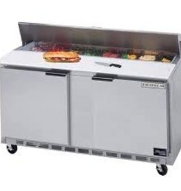 "Beverage Air Sandwich Unit, 2 Sect., 16 Pan, 60"", 17.1 cu.ft."