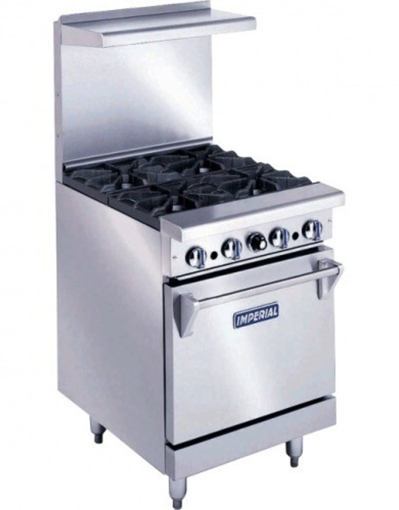"Imperial Range, (4) Burners, (1) 20""W Oven, 56.49""Wide"