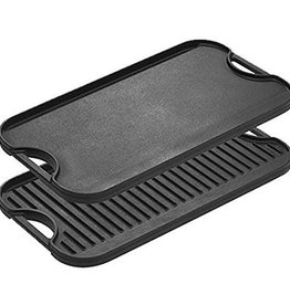 """Lodge Cast Iron Griddle/Grill, 20"""" x 10-7/16"""""""