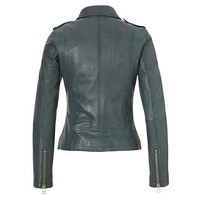 Leather bikerjacket