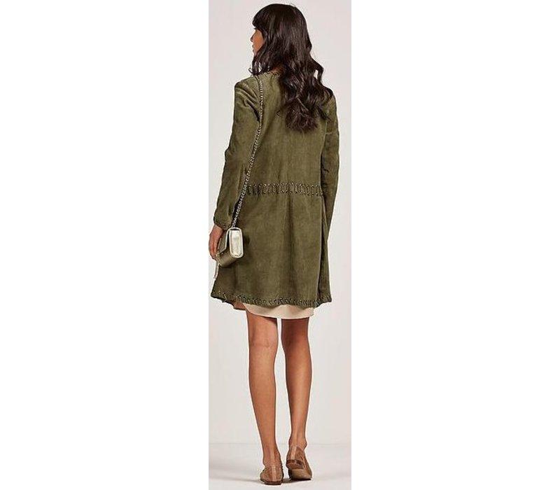 Green long jacket