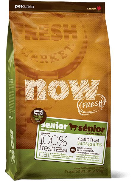 Petcurean Now Fresh Small Breed Senior 12lb