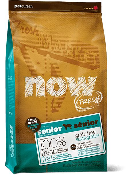 Petcurean Now Fresh Large Breed Senior 12lb