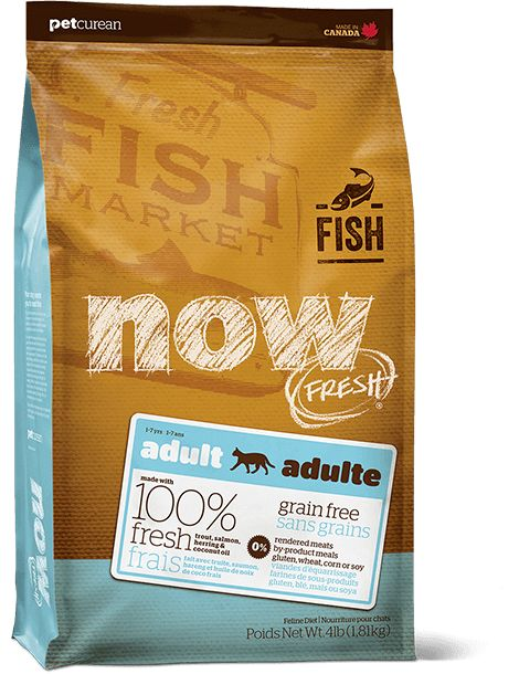 Petcurean Now Cat Fresh Grain Free Fish Adult 8lb