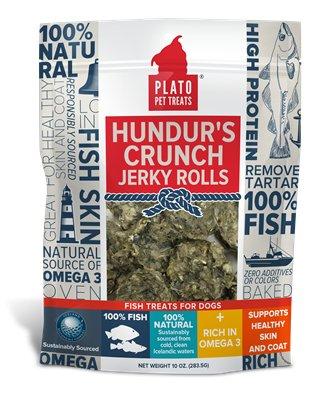 Plato Plato Hundurs Fish Skin Rolls 3.5oz