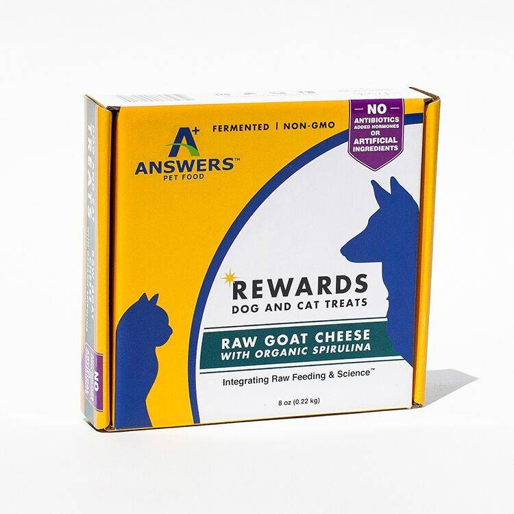 Answers Answers Goat Milk Cheese Treat Spirulina 8-oz