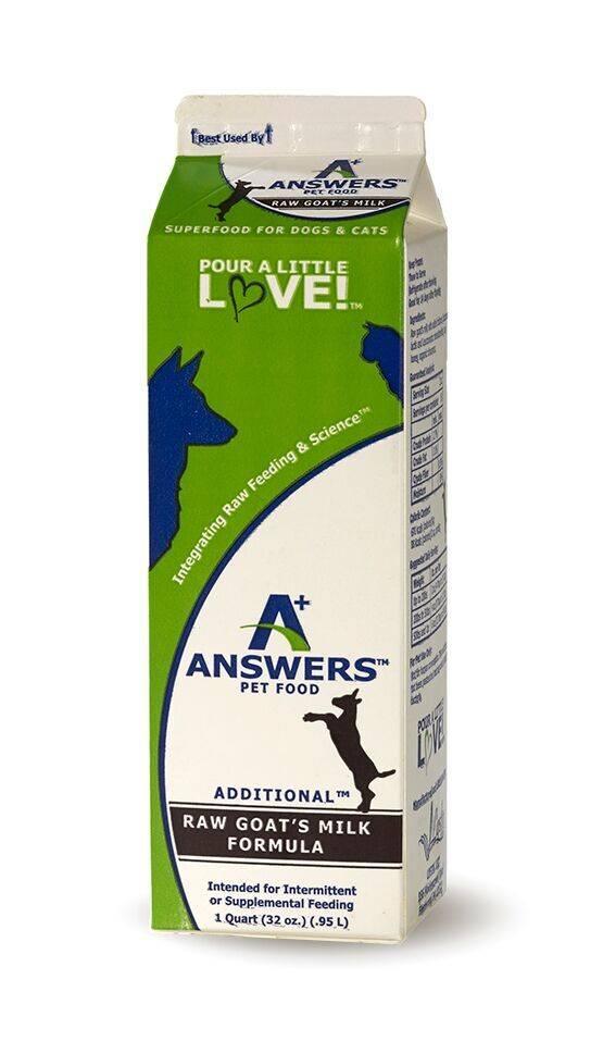 Answers Answers Raw Goats Milk Quart