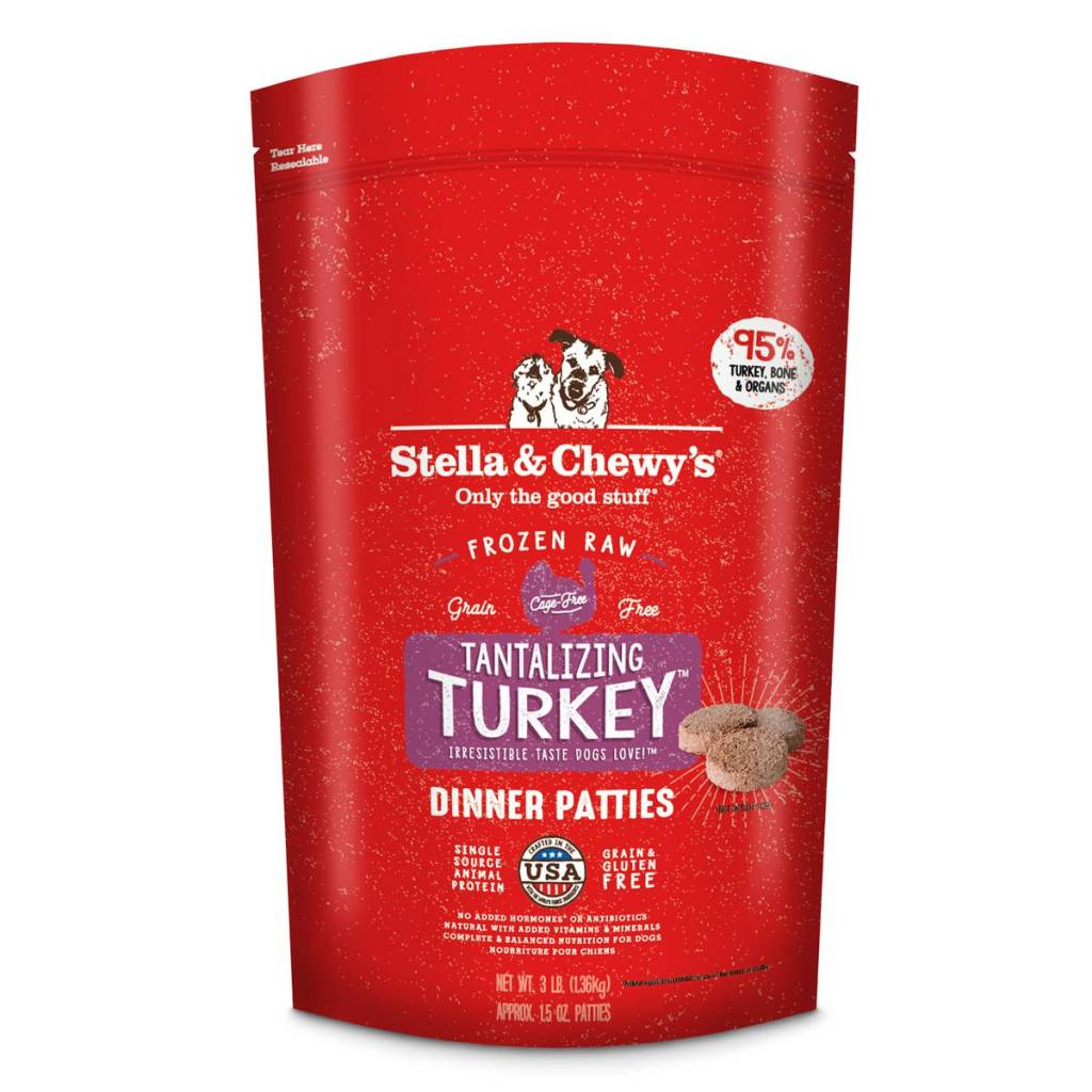 Stella & Chewys Stella & Chewy's Dog Raw Turkey 3lb