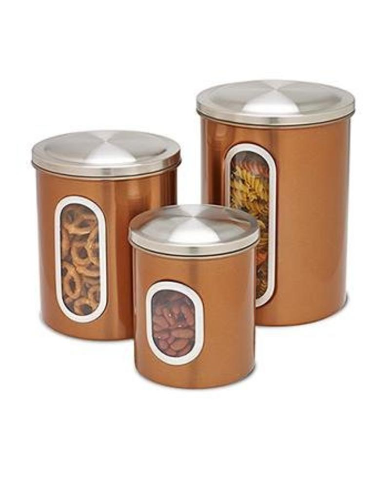 Honey Can Do Copper Kitchen Canisters