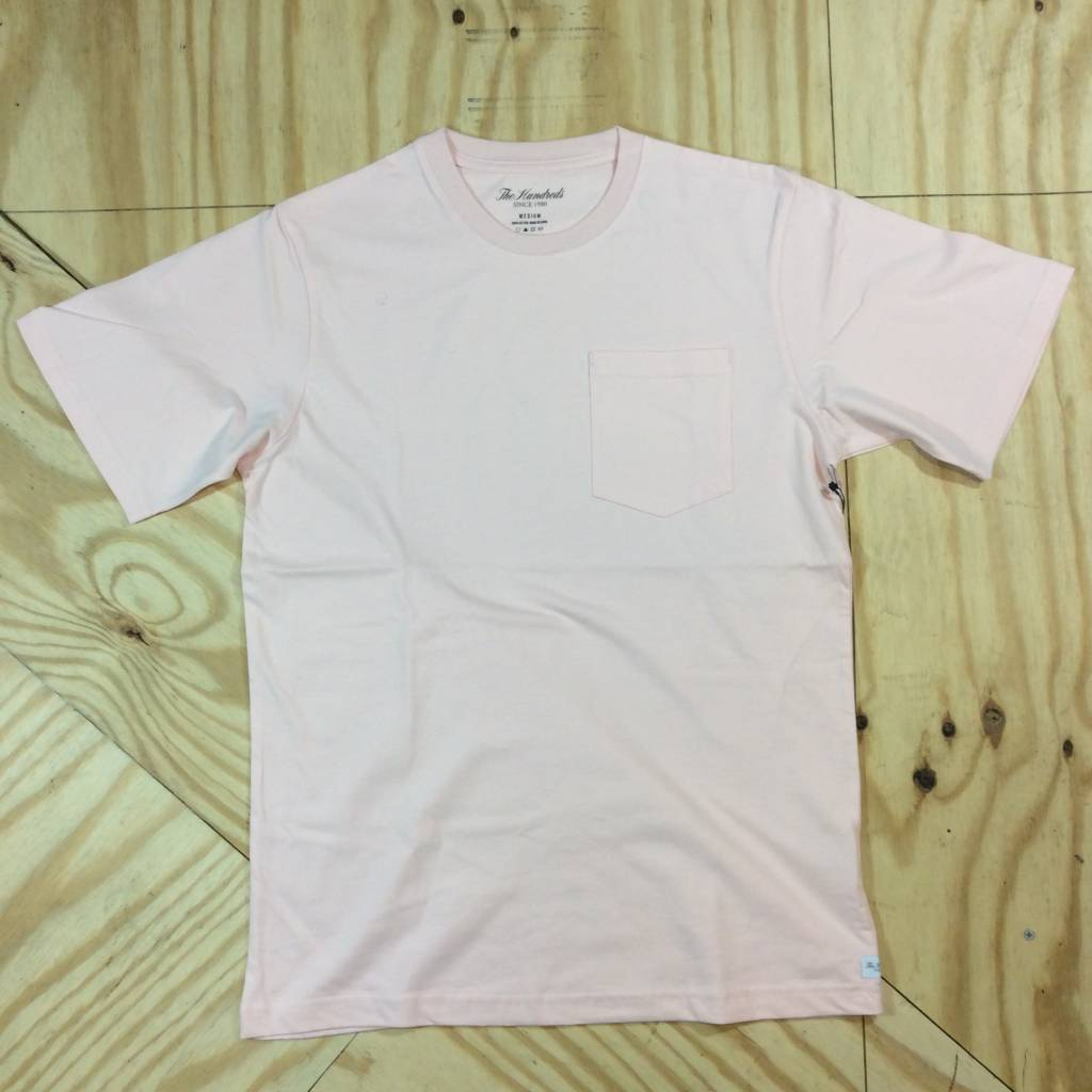 THE HUNDREDS Perfect Pocket T-Shirt Pale Pink