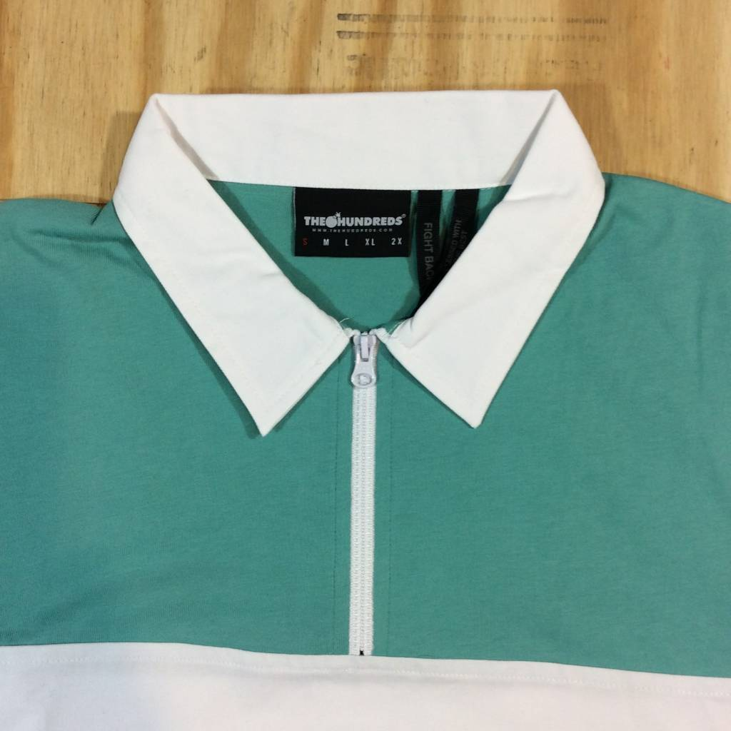 THE HUNDREDS Olympia SS Woven Teal / Pale Pink