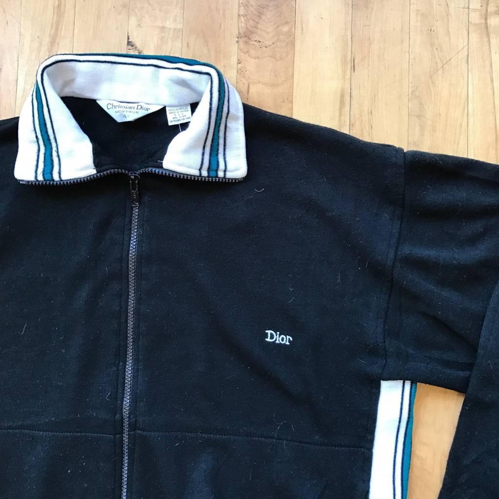 2ND BASE VINTAGE Vintage Dior Full Zip Sweatshirt LG