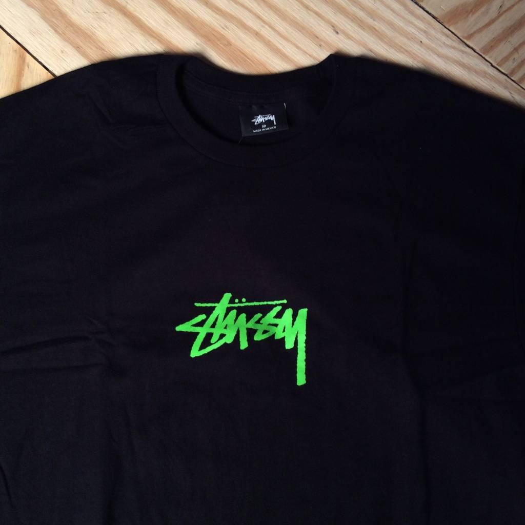 STUSSY Stock T-Shirt Black / Green