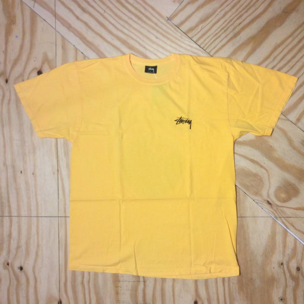 STUSSY 8 Ball Pigment Dye T-shirt Faded Yellow