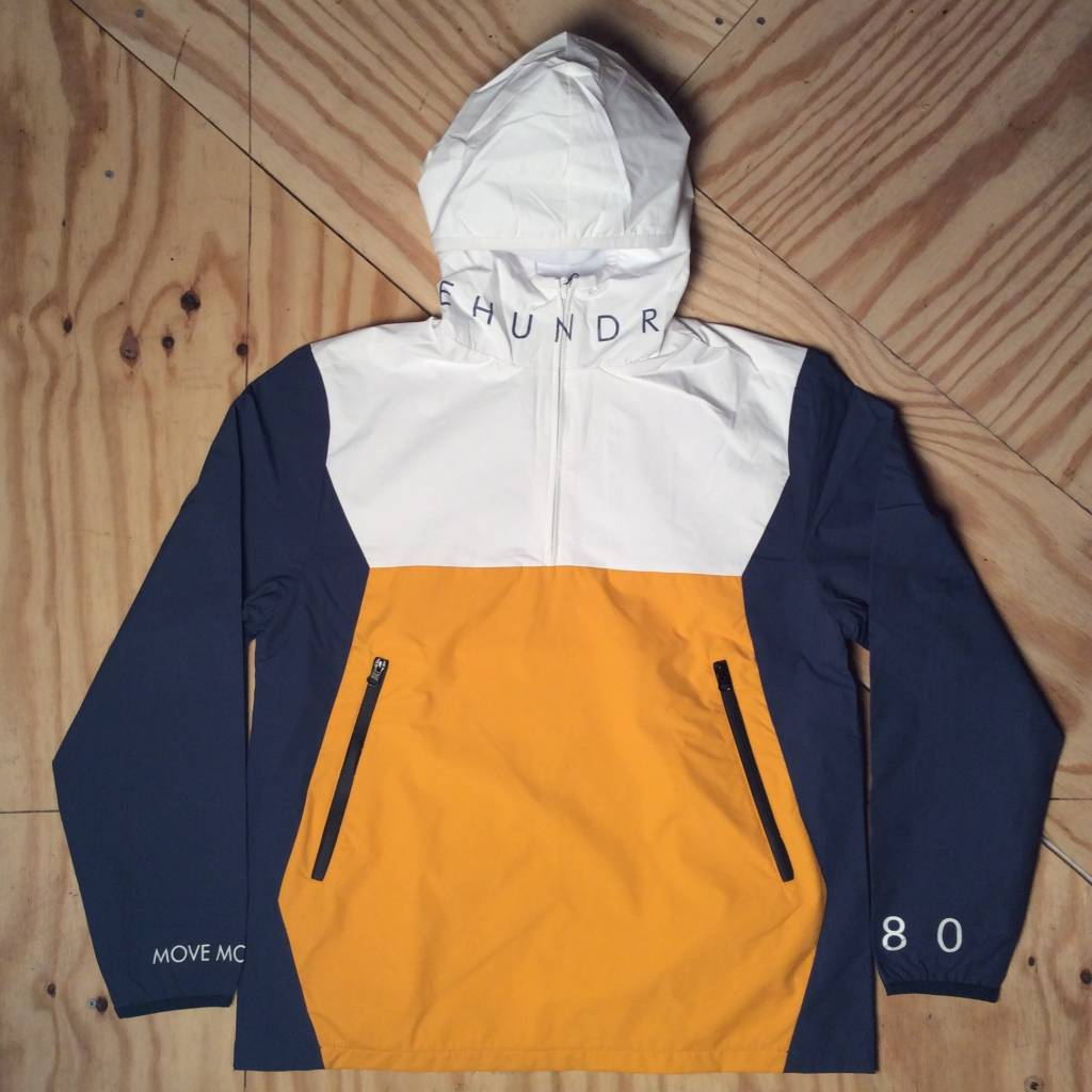 THE HUNDREDS Anchor Anorak White / Yellow