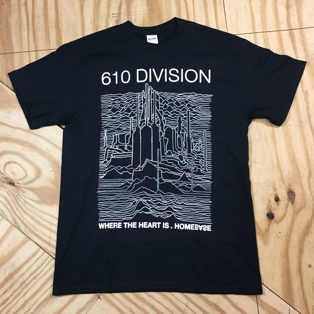 HOMEBASE SOFTGOODS 610 Division T-Shirt Black / White