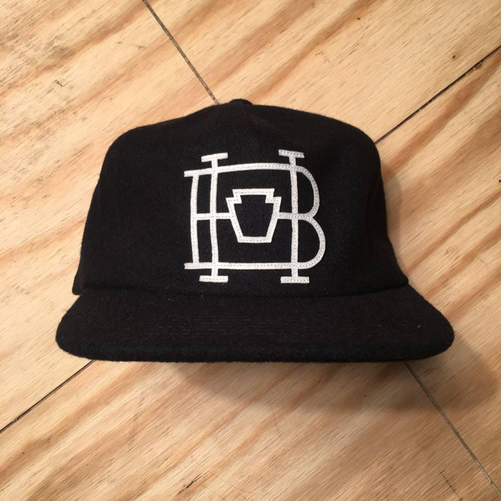 HOMEBASE SOFTGOODS Lock & Key Wool Baseball Hat Black