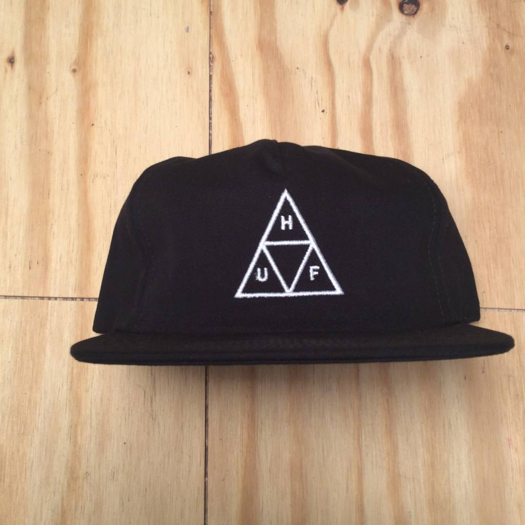 HUF Triple Triangle Snapback Hat Black