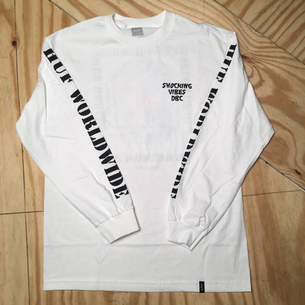 HUF Vibes L/S T-Shirt White