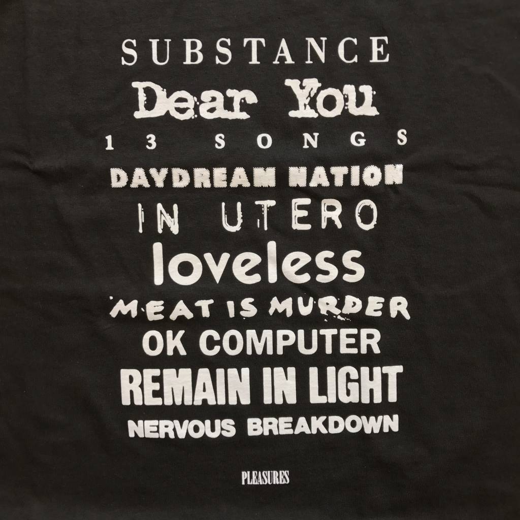 PLEASURES Titles T-Shirt Black