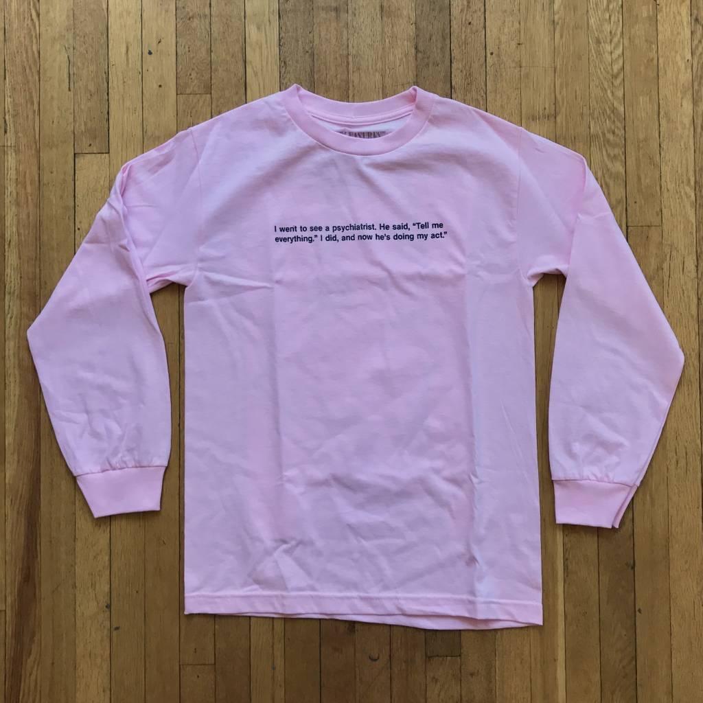 PLEASURES Punchline LS T-Shirt Pink