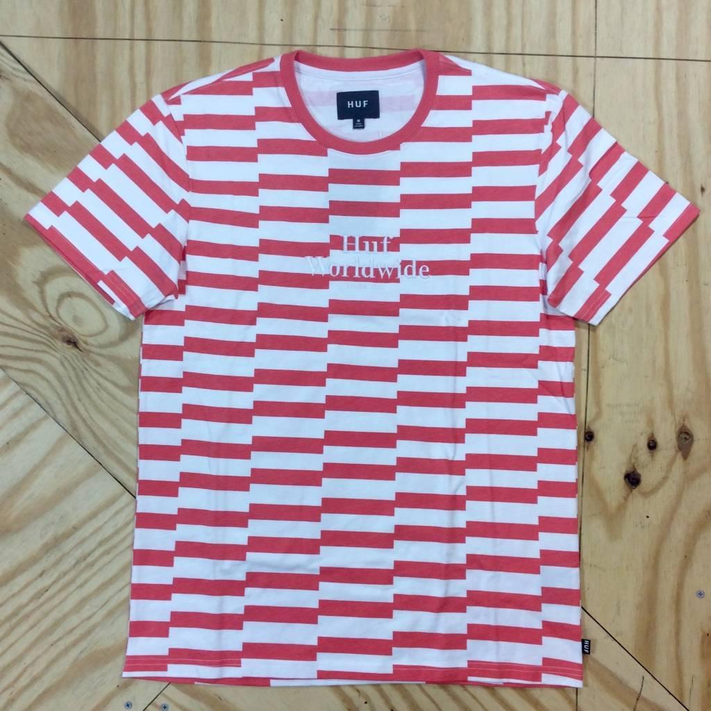 HUF Off Set T-Shirt Salmon