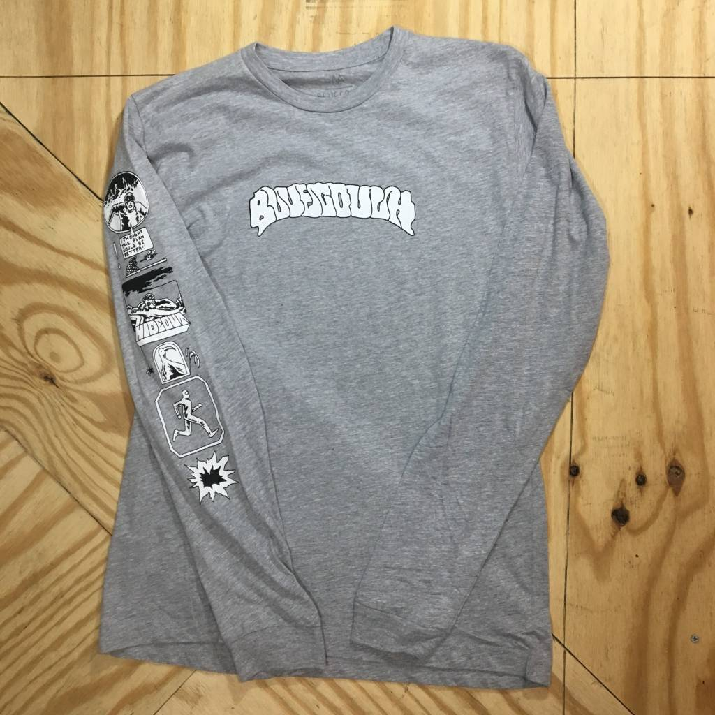 BLUE COUCH SKATEBOARDS Melt Longsleeve T-Shirt Grey