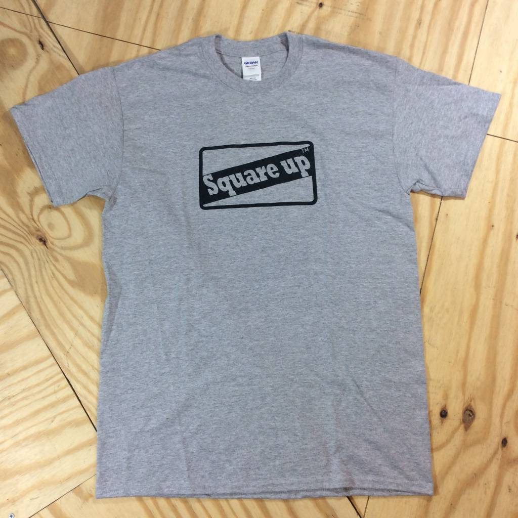 SQUARE UP SKATEBOARDS Fulfill The Dream T-Shirt Grey