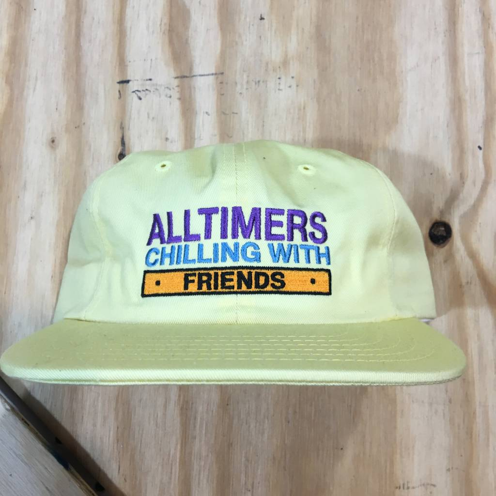 ALLTIMERS Chilling With Friends Strapback Hat Yellow