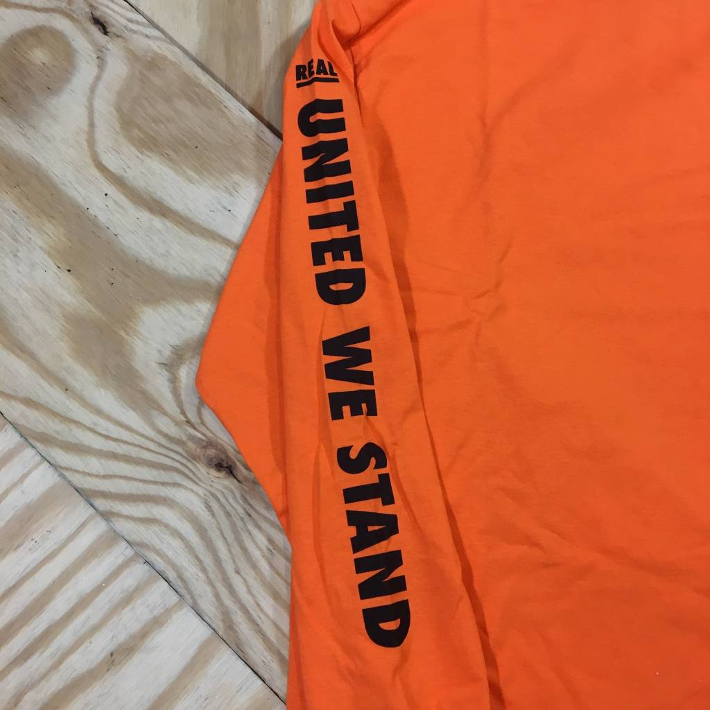 DELUXE Real United We Stand LS T-shirt Orange