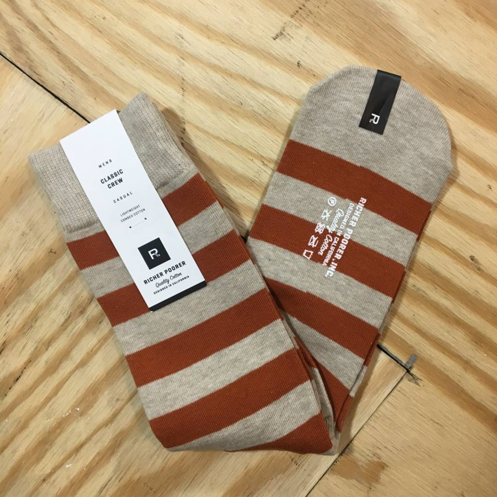 RICHER POORER Walk On Sock Oatmeal / Orange