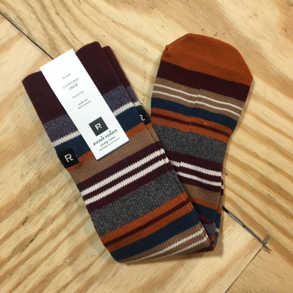 RICHER POORER Warner Sock Brown / Maroon