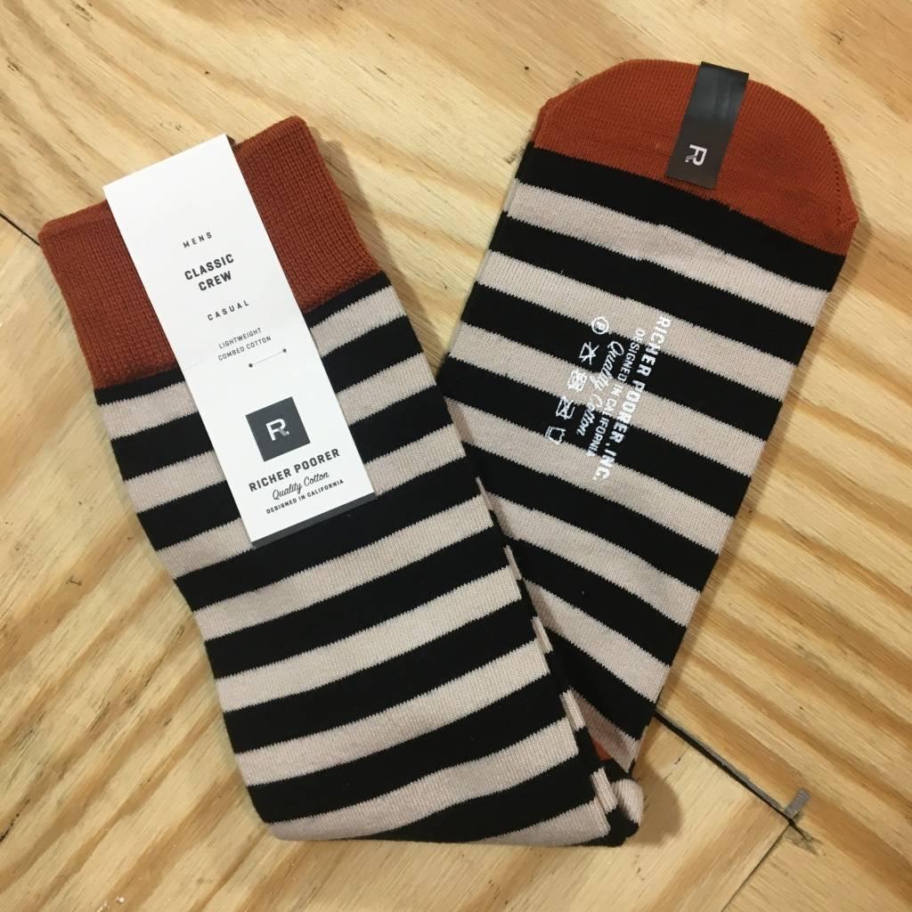 RICHER POORER Theo Sock Black / Cream