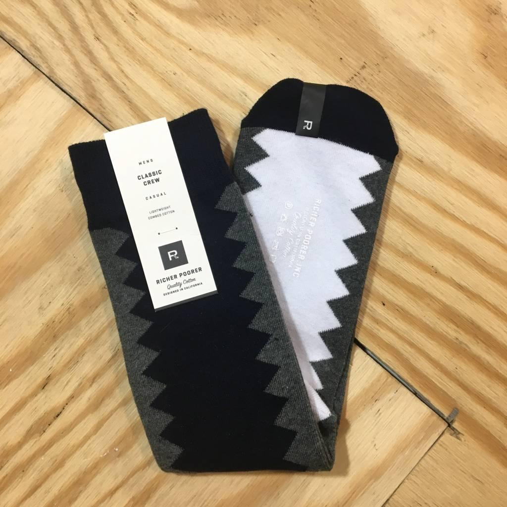 RICHER POORER Sixx Sock Navy / Grey