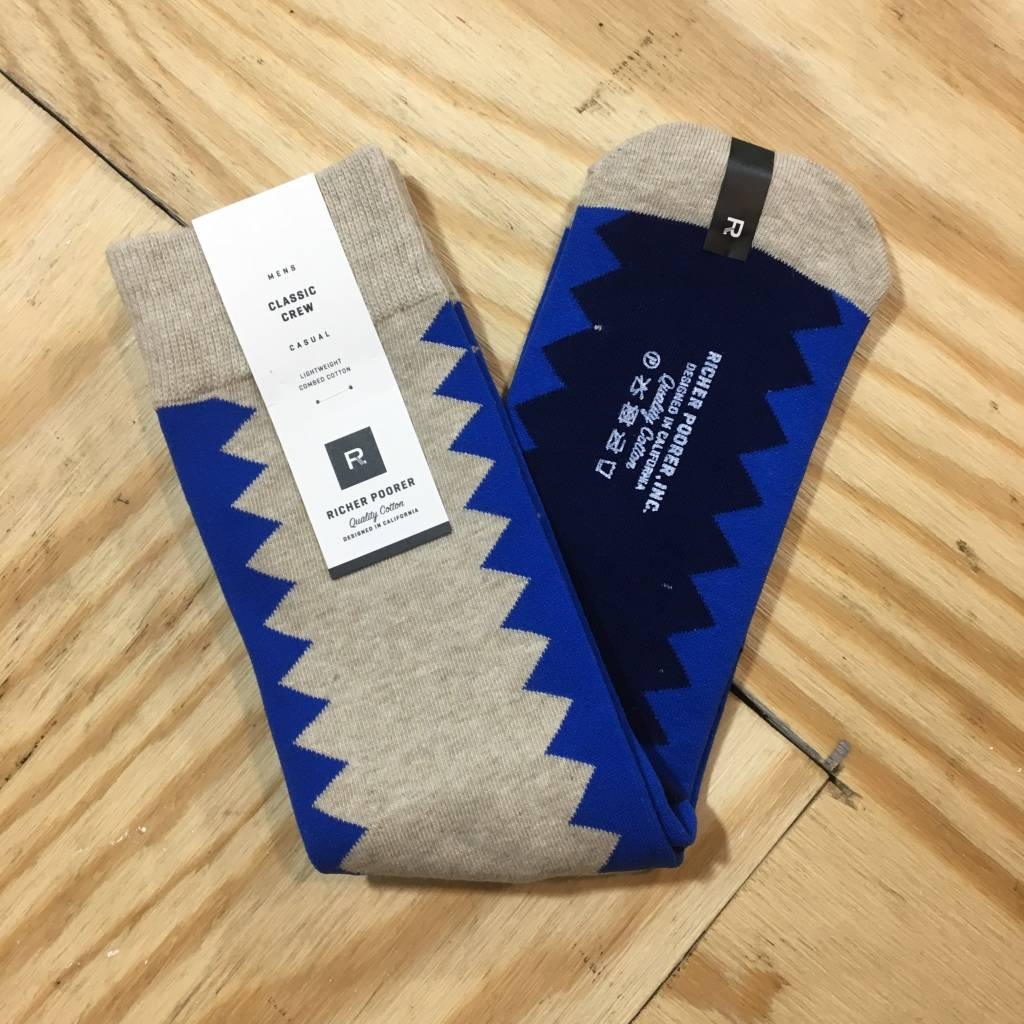RICHER POORER Sixx Sock Tan / Blue
