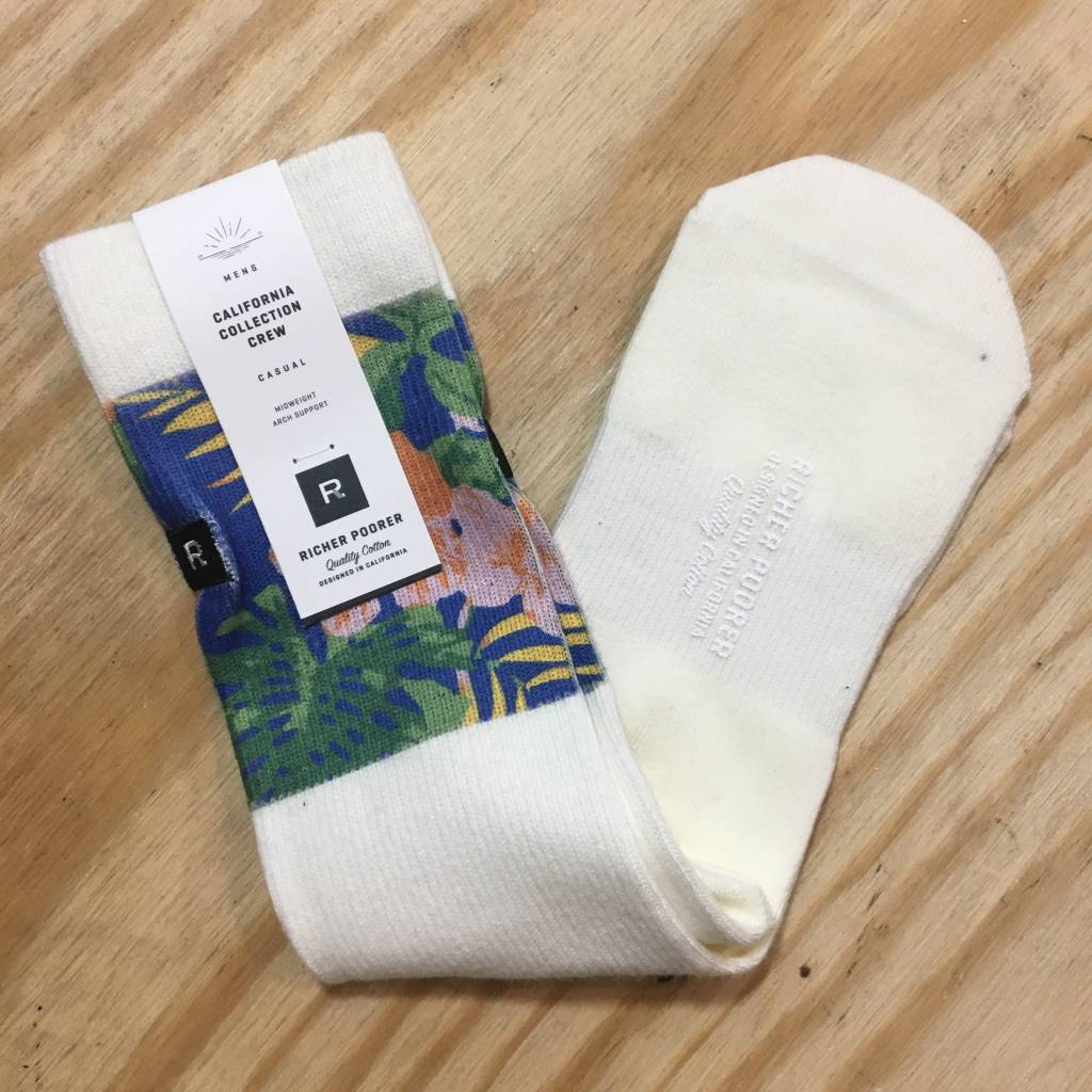 RICHER POORER Mahalo Sock White