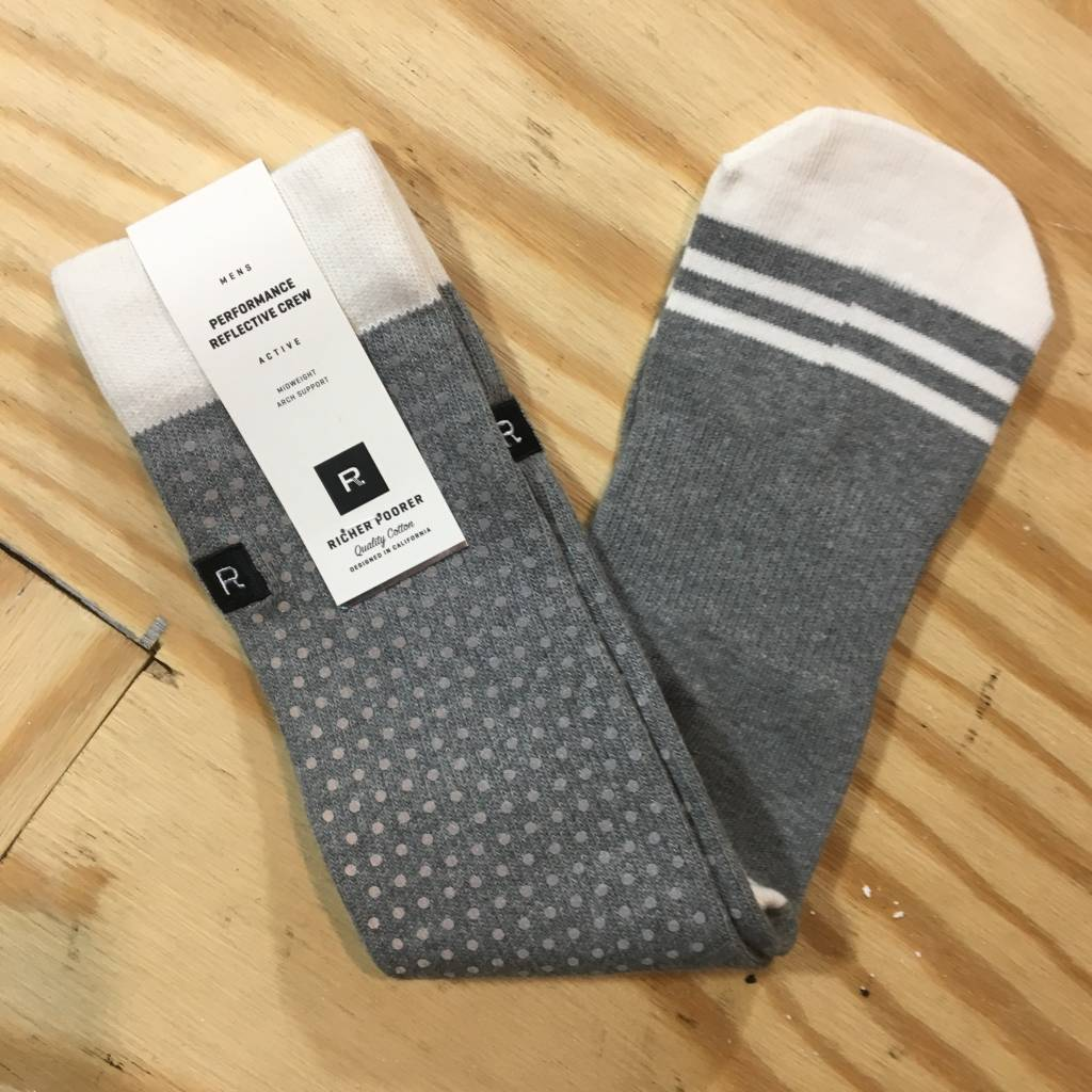 RICHER POORER Fringe Reflective Sock Heather Grey