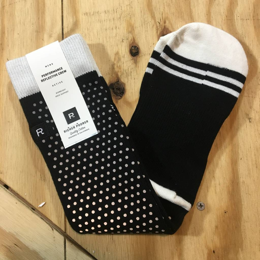 RICHER POORER Fringe Reflective Sock Black