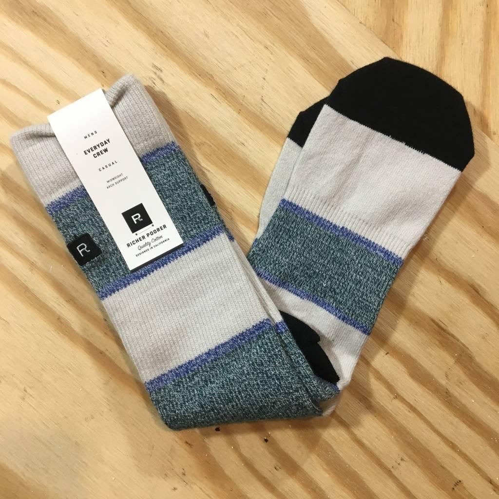 RICHER POORER Griffin Sock Green / Cream