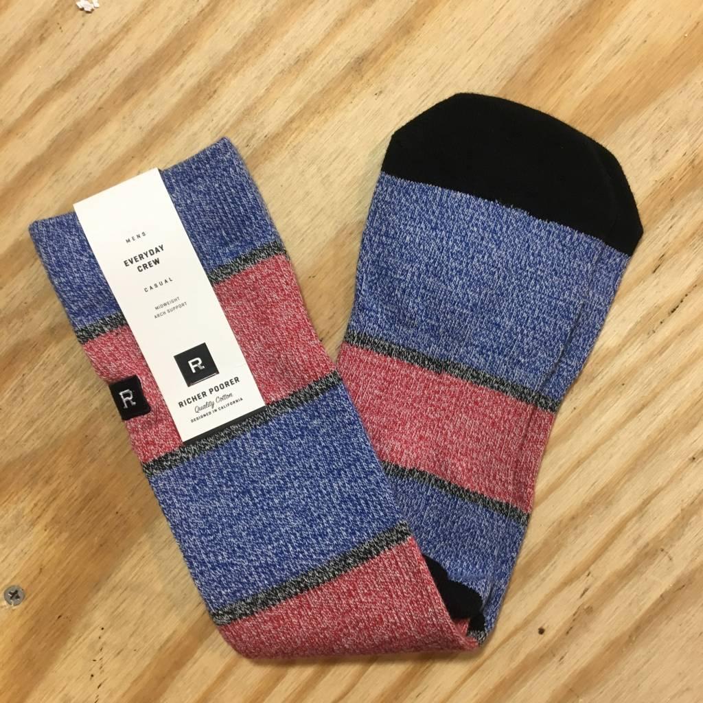 RICHER POORER Griffin Sock Red / Blue