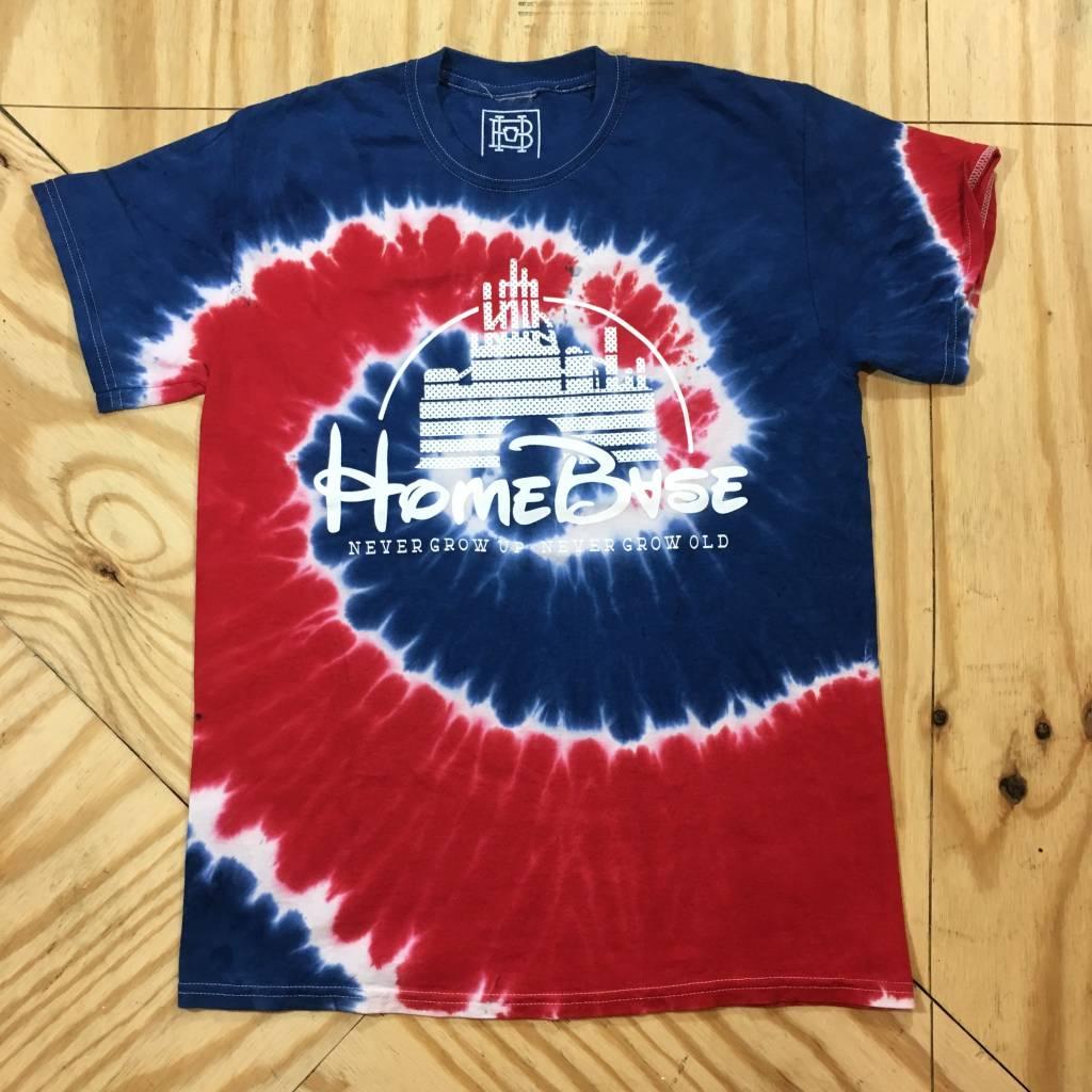 HOMEBASE SOFTGOODS Magic Castle Tie Dye T-Shirt Red/White/Blue