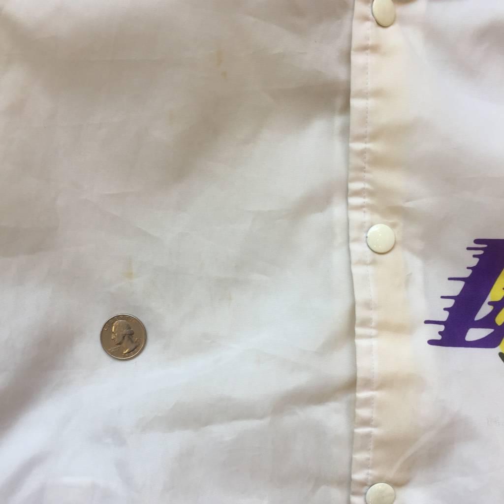 "2ND BASE VINTAGE Vintage Chalkline LA Lakers ""Showtime"" Nylon bomber jacket MD"