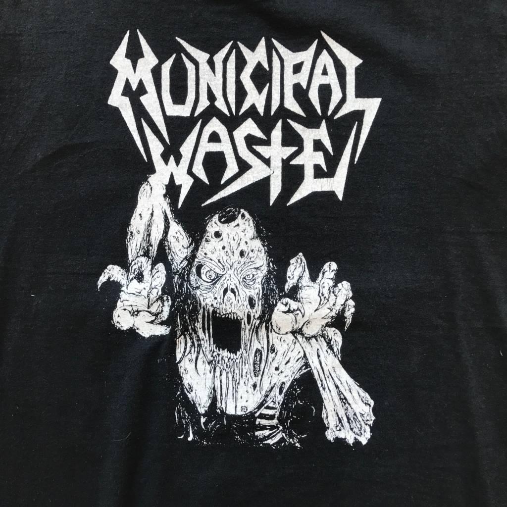 2ND BASE VINTAGE Municipal Waste Monster T-Shirt Black MD