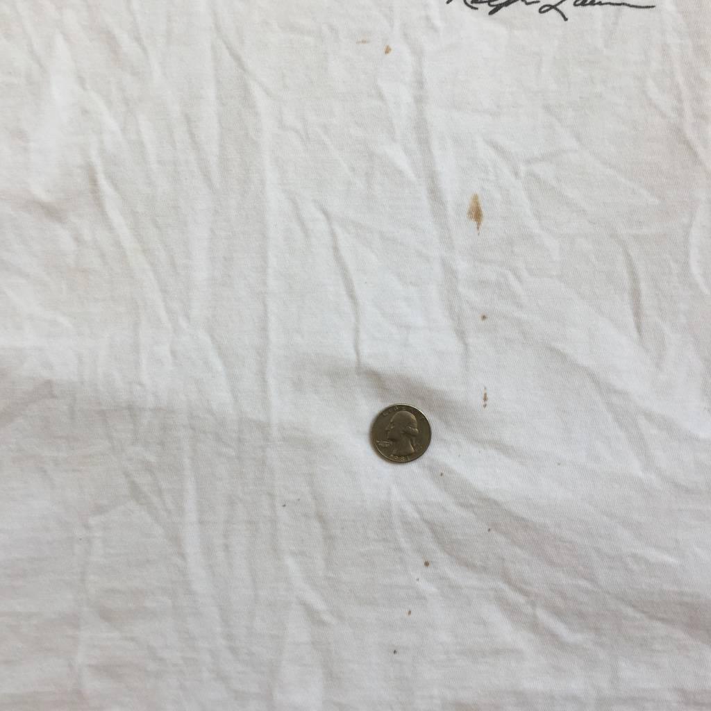 2ND BASE VINTAGE Ralph Lauren Casual Polo Bear T-Shirt White LG
