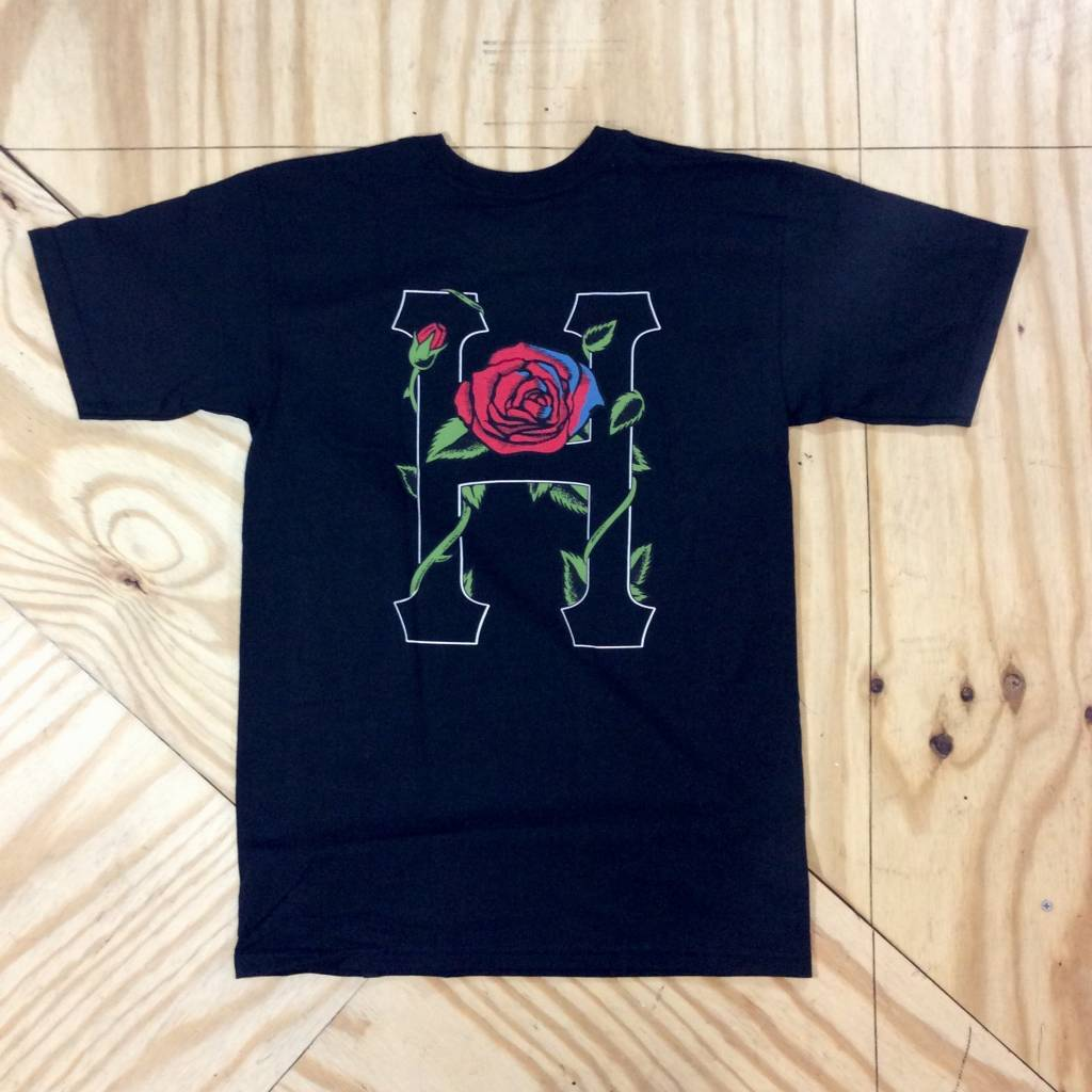 HUF Classic H Rose T-Shirt Black