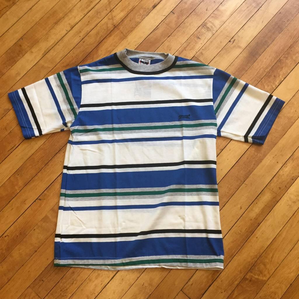 2ND BASE VINTAGE Vintage 90's Le Tigre Multi-Stripe T-Shirt MD